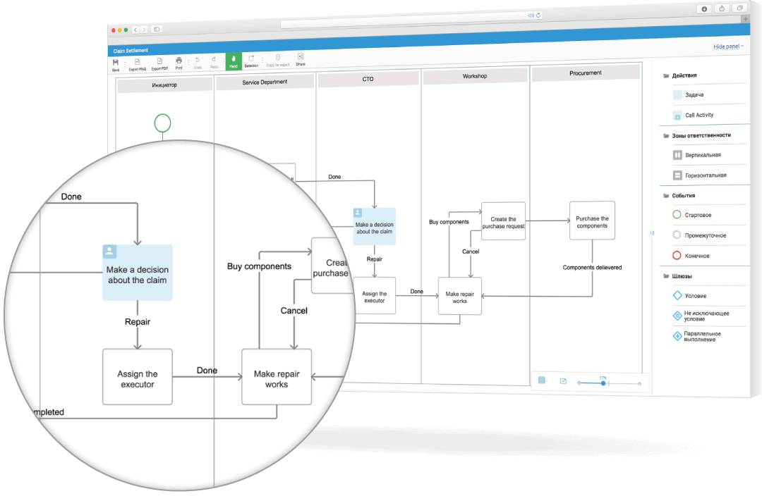 BPMN Studio — Free online service for business process modeling